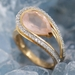 Bague quartz rose or rose3