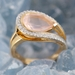 Bague quartz rose or rose4