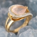 Bague quartz rose or rose2