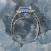 Bague tanzanite taille coussin diamants or blanc3