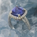 Bague tanzanite taille coussin diamants or blanc2